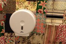 Toilet criativo / Criativos, com material reciclado ou não em bares, cafés, casas noturnas.