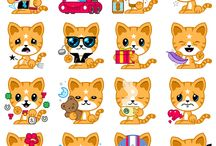 Sticker Kawaii Tiere