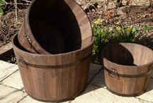 Wooden Garden Planters / Planters and raised beds, fantastic for all different kinds of planting and growing fresh veg, organic maybe.
