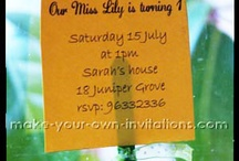 Summer Party Ideas / Party ideas for the summertime - food, decorations, games, cake, and invitations