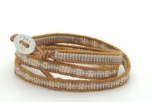 CODE LOVE Morse Code Seed Wrap Bracelets / HAND CRAFTED WRAP BRACELETS USING FINEST QUALITY SEED BEADS AND SEMI PRECIOUS STONES BOUND ONTO LEATHER - DESIGNED AND CREATED IN AUSTRALIA BY MEGAN CARMONT DESIGNER/DIRECTOR OF CODE LOVE