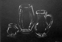 glas tegninger