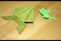 origami grenouille