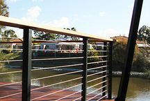 Balustrade / Showcase of Miami Stainless balustrades, posts and wire.