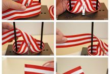 Making a Bow out of ribbon