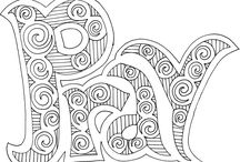 Zentangles & colouring pics