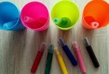 Zabawy utrwalające kolory / Propozycje zabaw na utrwalanie kolorów dla dzieci w wieku przedszkolnym.
