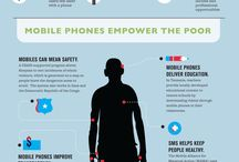 The Power of Mobile Phones / Infographics detailing interesting facts and insights into mobile phones and how they empower our lives.