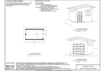 GARAGE PLANS FOR LOTS MIN 25′ WIDE