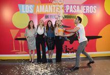 Miguel Ángel Silvestre en la presentación de la película de Almodóvar, Los amantes pasajeros