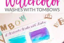 Watercoloring | Brush pens