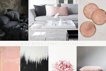 Charcoal & blush decorating ideas