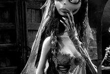 sposa cadavere vestito