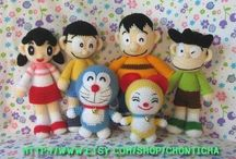 doraemon and friends crochet
