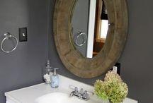 Grey bathroom / by Trista McGrew