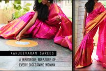 Kanjeevaram Silk / Drape yourself in a pink saree for a weekend wedding. Look elegant and standout in the crowd. The pink colour with gold zari border and pallu brings out the richness of your saree #pink #richness #wedding #silksaree #standout #kanjeevaram #saree