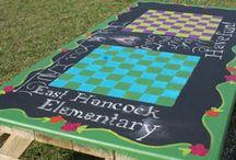 picnic table art