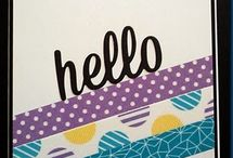 Card Making - Washi Tape / Using washi tape to decorate cards