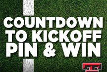 Countdown to Kickoff / Create a Red Raider Football Countdown to Kickoff board on Pinterest. Pins can include favorite sports, players, coaches, fan photos, Red Raider events or anything related to creatively show Red Raider football spirit. Our favorite pinner will nab a pair tickets to the home opener verse Stephen F. Austin. / by Texas Tech Athletics