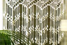 cortinas a CROCHET. .