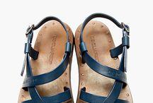koža sandále