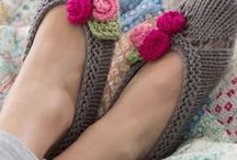 Slippers free knitted pattern