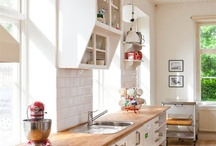 home sweet home: kitchens / Gorgeous kitchens! Marble, lots of white, and super modern! / by Chelsea Olivia // Olive & Ivy