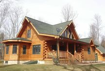 Log cabin homes and decor
