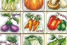 Haft krzyżykowy warzywa i owoce