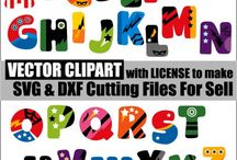 Vector Clipart for Cutting Files SVG and DXF