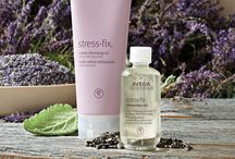 New Aveda Stress Fix products @ Chromasalonspa / AVEDA'S STRESS-FIX™ CREME CLEANSING OIL & COMPOSTITION Wash away your stress with this gentle cleanser enriched with nourishing certified organic sunflower and babassu oils.  99% naturally derived*