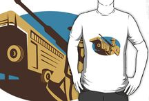 T-shirts RVL / Retro styled graphics on t-shirts, hoodies and clothing apparels.