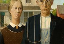 American Gothic Twists and Turns / Fun tweaks to Grant Wood's classic painting American Gothic.