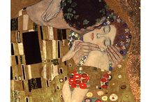 Gustav Klimt Art Prints / Gustav Klimt art prints are full of vivid colors and symbolism. Klimt was one of the founders of the Art Nouveau movement.  / by Bandaged Ear