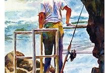 paintings of fishing