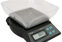 Kitchen Scales / Kitchen Scales for Weighing Food Ingredients in Baking and Cooking in home, restaurant or culinary school recipes.