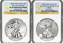 2013 Silver American Eagle NGC Two Coin Sets