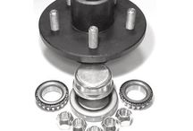 Trailer Hubs / Trailer hubs come with bearings, races, grease seals, lug nuts, and dust cap.  #trailerhub #bearings #greaseseal #lugnut #dustcap #545 #550 #555 #5475 #655 #865