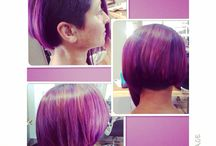 Statement colours & cuts / Bright, funky, standout colours done in our salon