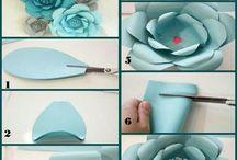 flores em papel