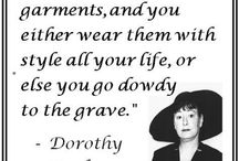Oh, Dorothy. / Dorothy Parker! / by Michelle Saxton-Corner