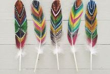 Feathers and a creative touch.