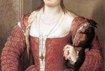 1520-1530s front tie dresses