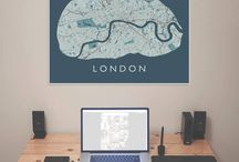 United Kingdom (city maps) / Handmade city maps for sale. Want a map we don't have yet? Contact us!