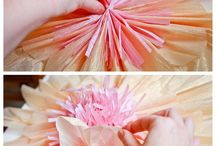 flores de papel gigante