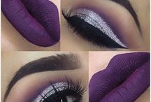 purple clothing makeup