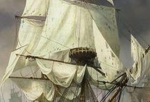 Sailing ship battles