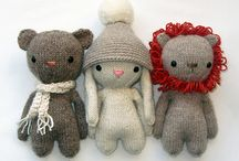 knitted and stuffed