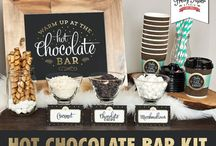 Hot chocolate/trail mix bar