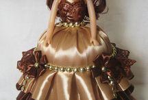 кукла - платье из лент